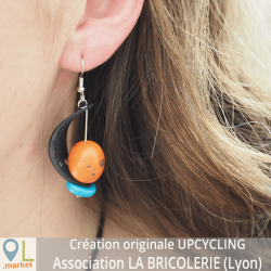 Boucles d'oreilles UPCYCLING