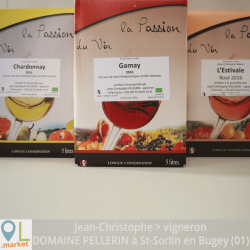 Cubi de vin biodynamie 2016 (5L)
