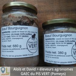 Boeuf bourguignon en bocal