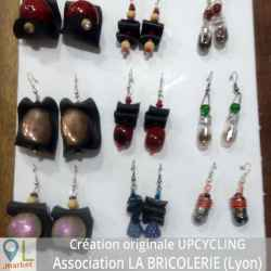 "Boucles  d'oreilles ""Upcycling"""