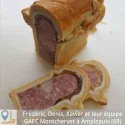 Pâté en croûte apéritif pur porc (env. 430g)