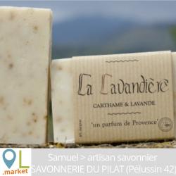 """Savon """"LA LAVANDIERE"""" (Carthame & lavande)"""