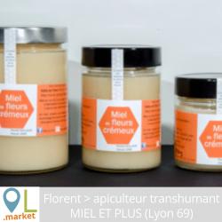 Miel de fleurs crémeux - récolté dans le Rhône