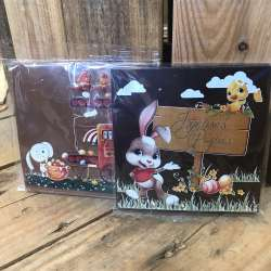 "Carte en chocolat ""Joyeuses Pâques"" (format carré)"