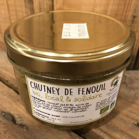 Chutney de fenouil BIO (230 GR)