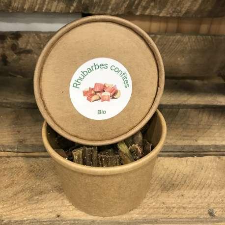Boîte Rhubarbe confite BIO (150g)