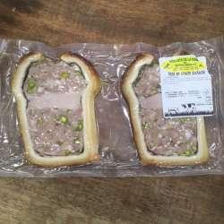 2 tranches pâté en croûte pistaché pur porc (300g)