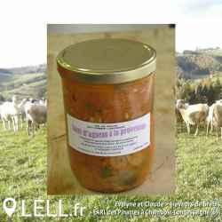 Sauté d'agneau à la provençale (780 gr)